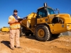 Construction Man Big Dumptruck Commercial Photography