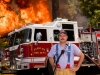 Fire Chief by Fire Truck Commercial Photography