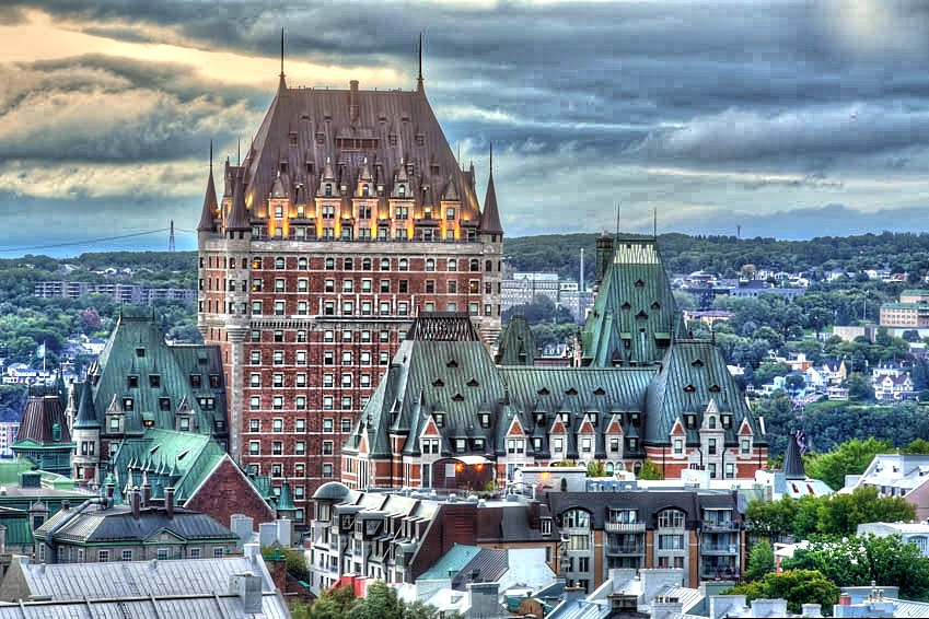 Le Chateau Frontenac Hotel In Quebec City Canada - Taken With Canon 5D Mark III On A Manfrotto Tripod