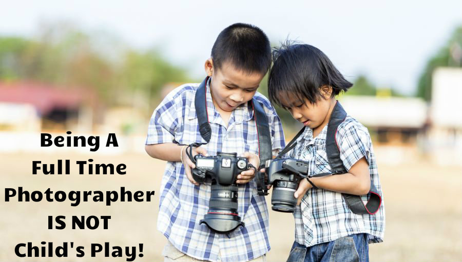 Two Kids With Cameras With Text