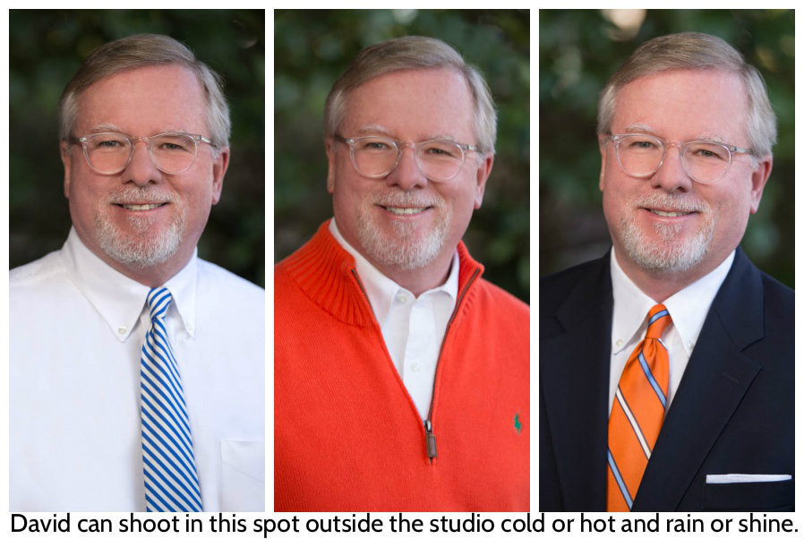 Outdoor Headshot At North Raleigh Photography Studio